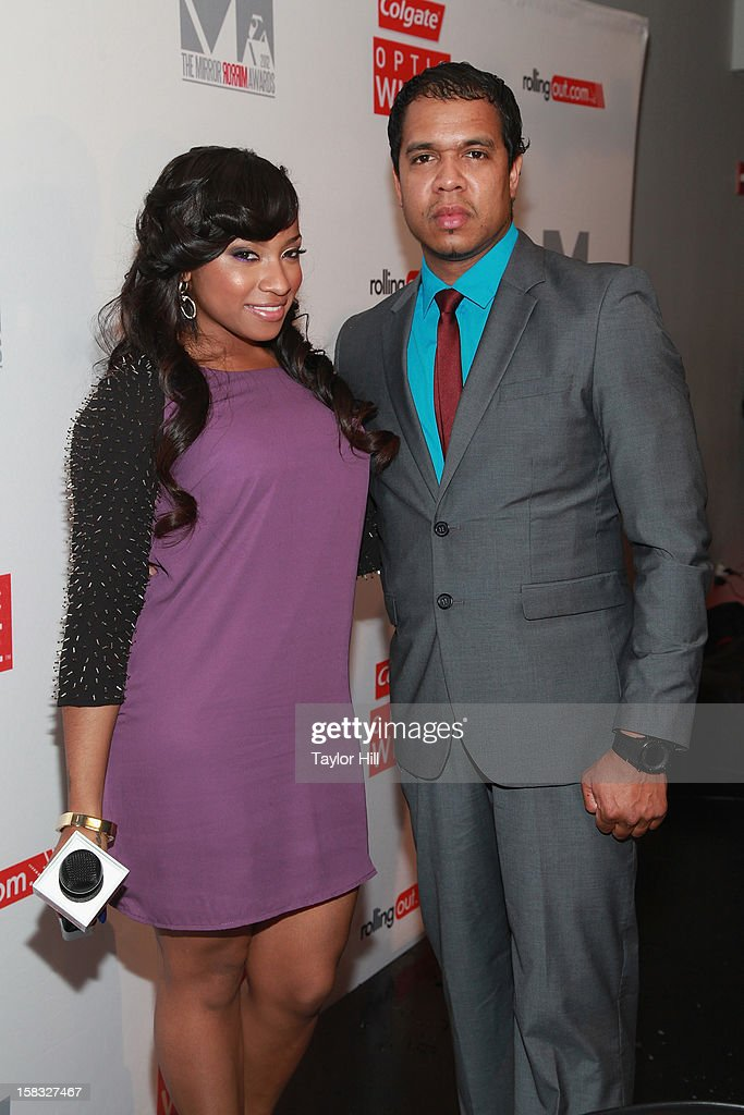 Toya Wright and Johnny Nunez attend the 2012 Mirror Mirror Awards at The Union Square Ballroom on December 12, 2012 in New York City.