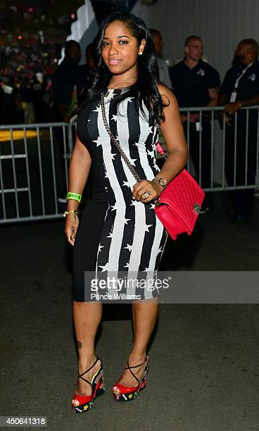 Toya Wright seen backstage during Hot 1079's Birthday Bash 19 at Philips Arena on June 14 2014 in Atlanta Georgia