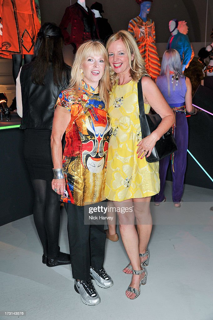 Toyah Wilcox and <a gi-track='captionPersonalityLinkClicked' href=/galleries/search?phrase=Claire+Forlani&family=editorial&specificpeople=214159 ng-click='$event.stopPropagation()'>Claire Forlani</a> attend the Club To Catwalk: London Fashion In The 1980's exhibition at Victoria & Albert Museum on July 8, 2013 in London, England.