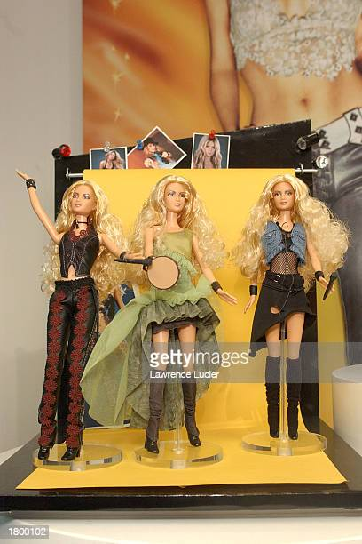 Toymaker Mattel features the Shakira Barbie collection at the 2003 Toy Fair February 16 2003 in New York City