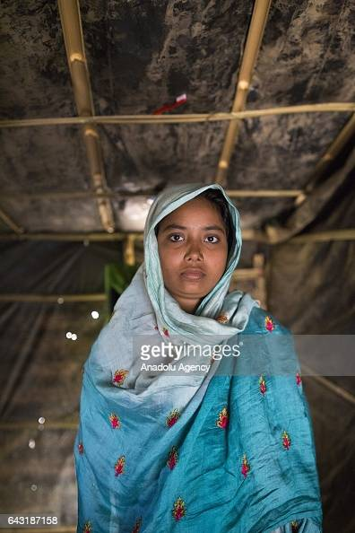 COX'S BAZAR BANGLADESH FEBRUARY 20 Toyoba Khatun one of the women who were raped by Myanmar armed forces members takes shelter at Leda unregistered...