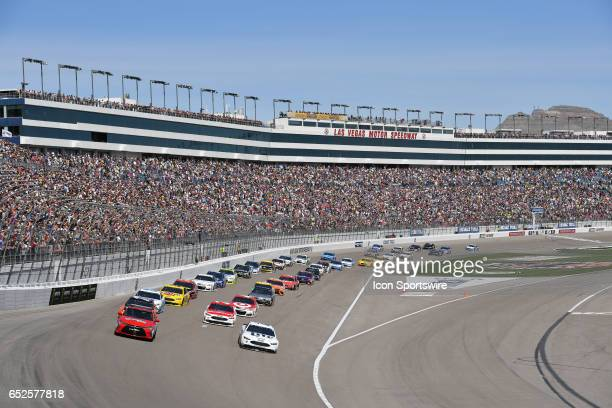 Toyota Camry pace car leads the field beef the start of the Kobalt 400 NASCAR Monster Energy Cup Series race on March 12 2017 at Las Vegas Motor...