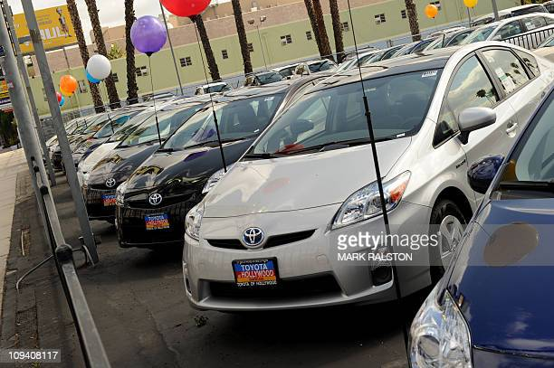 Toyota cars for sale at a Toyota dealer in Hollywood California on February 24 2011 Japanese automaker Toyota recalled another 217 million vehicles...