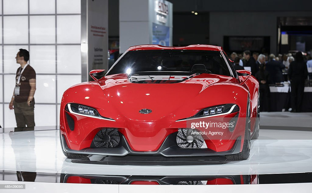 Toyota FT-1 Concept is displayed during the 2014 New York International Auto Show at the Jacob Javits Center New York, United States on April 17, 2014.