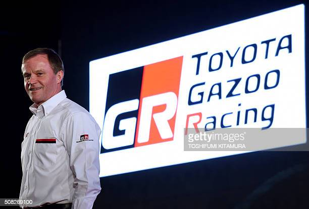 Toyota GAZOO Racing team principal Tommi Makinen of Finland poses during a 2016 Toyota GAZOO Racing press conference in Tokyo on February 4 2016...