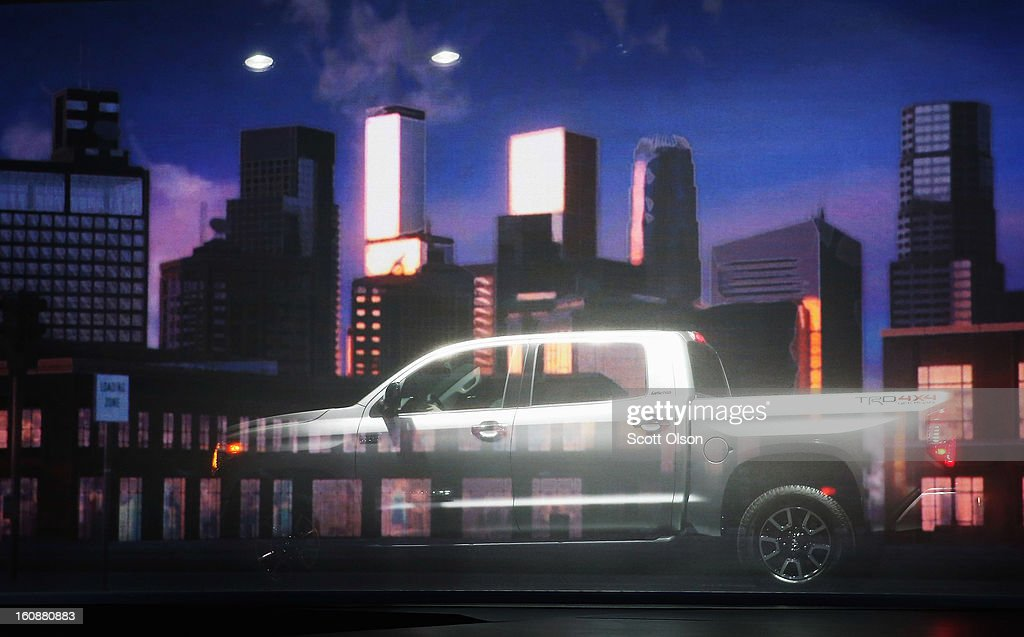 Toyota introduces the 2014 Tundra pickup truck at the Chicago Auto Show on February 7, 2013 in Chicago, Illinois. The Chicago Auto Show, one of the oldest and largest in the country, will be open to the public February 9-18.