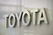 A Toyota Motor Corp logo is displayed at the company's head office in Tokyo Japan on Tuesday August 4 2015 Toyota warned of tougher competition in...
