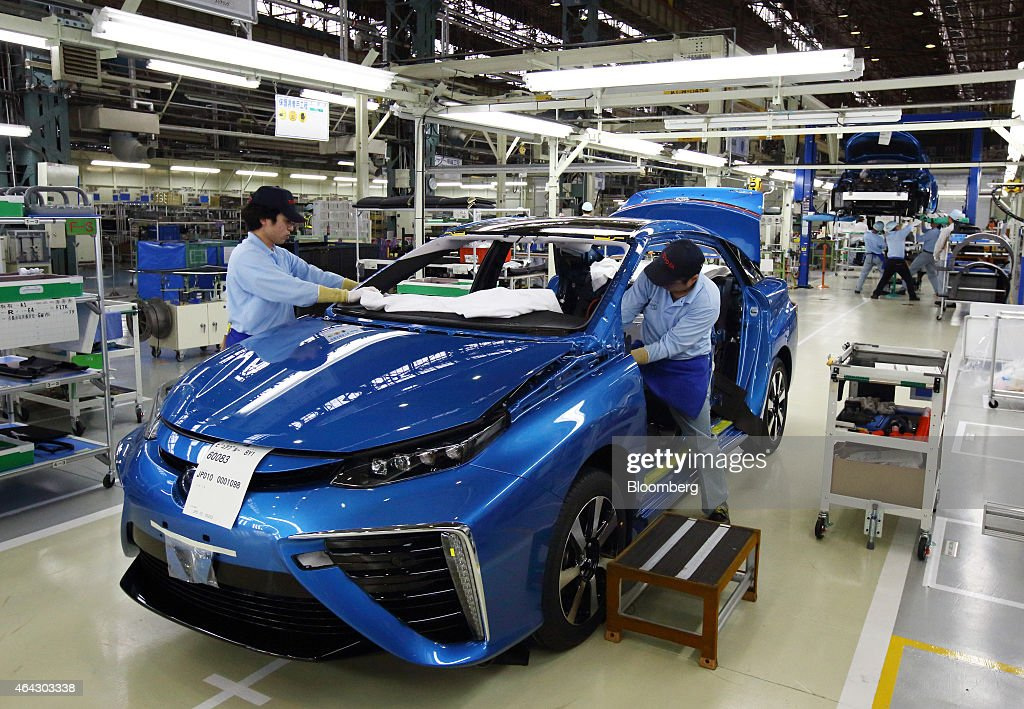 Toyota Motor Corp President Akio Toyoda Attends Line Off
