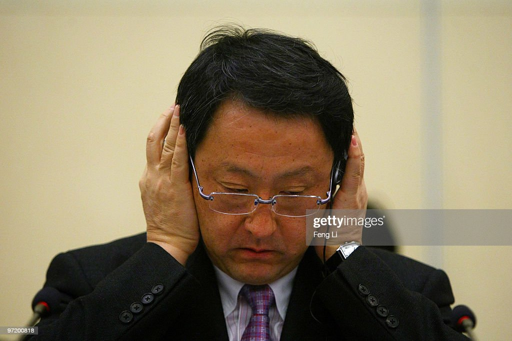 Toyota Motor Corporation President and CEO Akio Toyoda speaks to offer a sincere apology during a news conference on March 1, 2010 in Beijing, China. Toyoda issued an apology to Chinese customers following a series of safety issues.