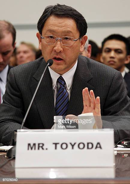 Toyota Motor Corporation President and CEO Akio Toyoda testifies before the House Oversight and Government Reform Committee hearing on Capitol Hill...