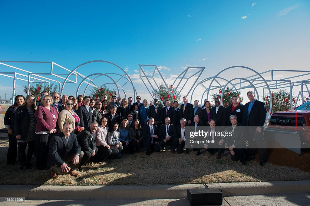 Toyota Motor North America executives and pioneers celebrate the official groundbreaking of the new North American headquarters on January 20, 2015 in Plano, Texas.
