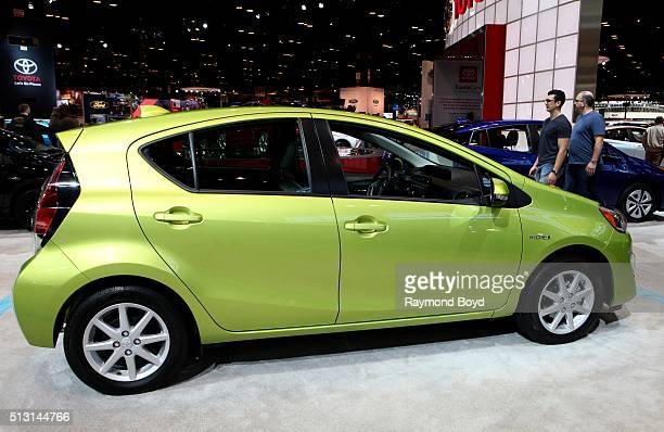 Toyota Prius c is on display at the 108th Annual Chicago Auto Show at McCormick Place in Chicago Illinois on February 19 2016