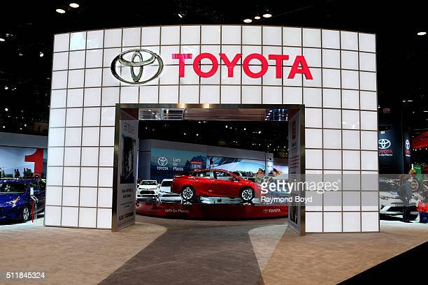 Toyota Prius is on display at the 108th Annual Chicago Auto Show at McCormick Place in Chicago Illinois on February 11 2016