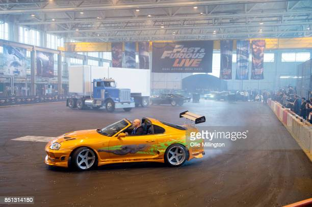 Toyota Supra MK IV used on screen by Paul Walker in The Fast and the Furious during the 'Fast Furious Live' media launch day event which featured the...