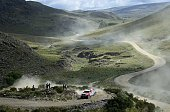 Toyota's driver Bernhard Ten Brinke of Netherlands and codriver Tom Colcoul from Belgium compete during the stage 2 of the Dakar 2015 between Carloz...