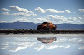 Toyota's driver Maik Willems and codriver Rob Van Pelt of Netherlands compete during the Stage 8 of the Dakar 2015 between Uyuni in Bolivia and...