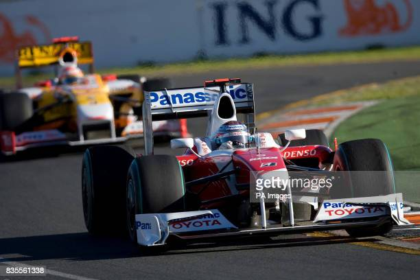 Toyota's Jarno Trulli during the Australian Grand Prix at Albert Park Melbourne Australia