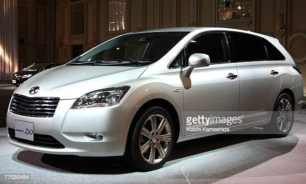 Toyota's new model Mark X Zio is launched during a press conference on September 26 2007 in Tokyo Japan Also known as FSC the vehicle is a crossover...