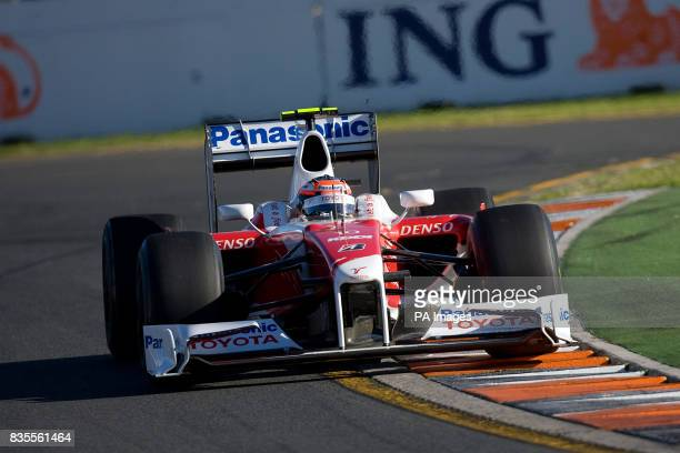 Toyota's Timo Glock during the Australian Grand Prix at Albert Park Melbourne Australia