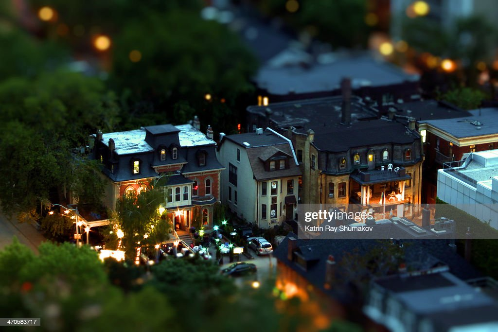 Toy-ronto by Night : Stock Photo