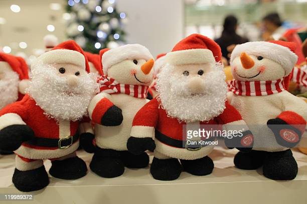 Toys and decorations are displayed in the Christmas shop at Selfridges department store on July 28 2011 in London England Selfridges launched its...
