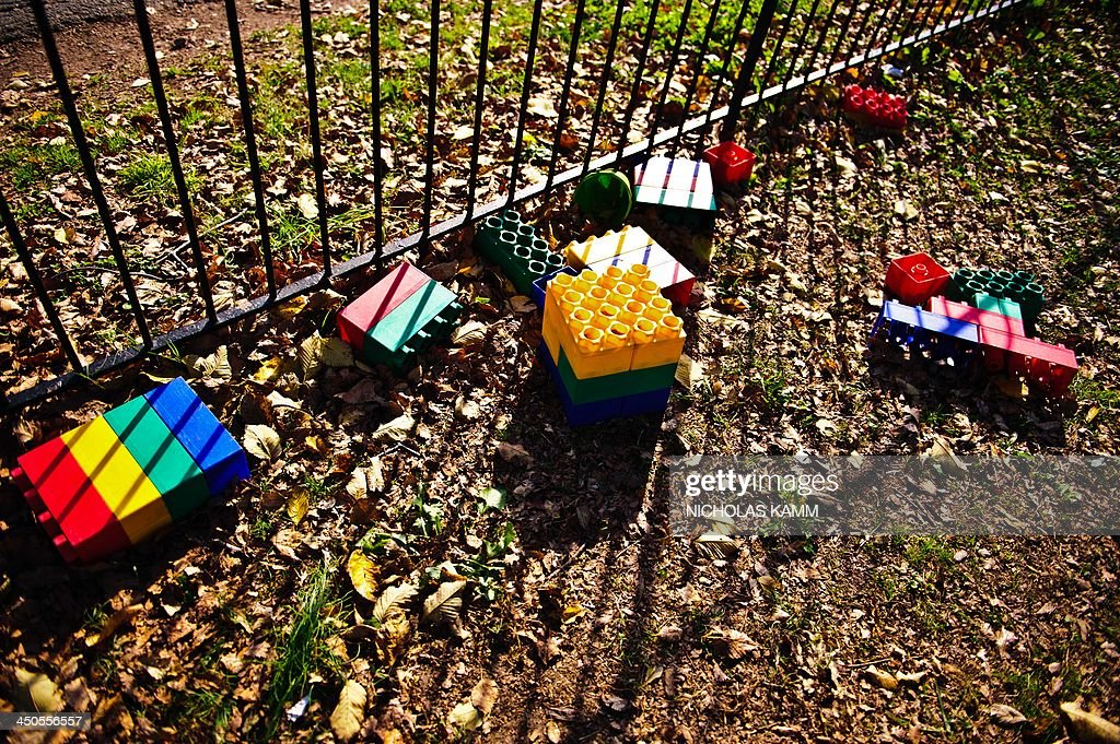 Toys are seen in a playground on November 19, 2013 in Washington,DC. AFP PHOTO/Nicholas KAM