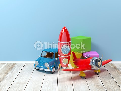 toys at wall : Stock Photo