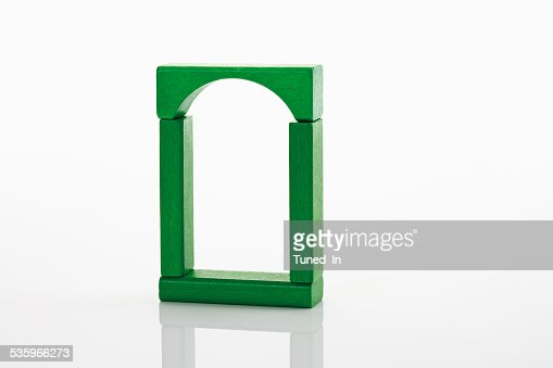 Toys, building bricks on white background : Stock Photo