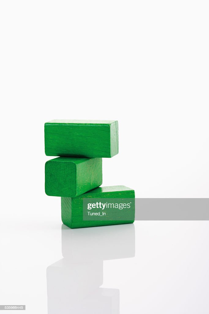 Toys, building bricks on white background : Stock Photo