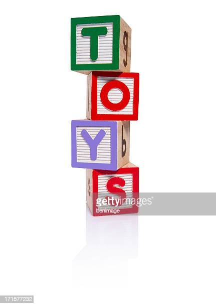 toys wooden blocks cube (clipping paths)