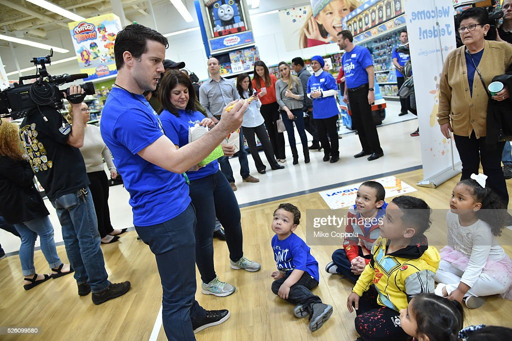 Toys?R?Us and Make-A-Wish provide 7-year old Jeiden with an awesome birthday experience at a Toys?R?Us in Secaucus, in celebration of World Wish Day at a Toys?R?Us on April 29, 2016 in Secaucus, New Jersey.
