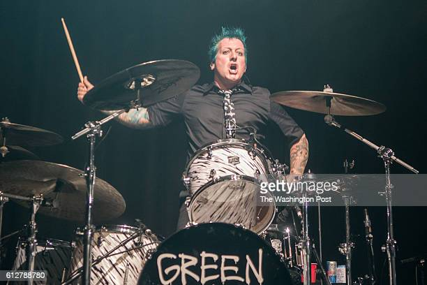 Tré Cool of Green Day performs a sold out show at the 930 Club on Monday