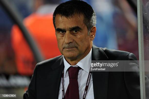 Trabzonspor AS head coach Senol Gunes during the Spor Toto Super League match between Trabzonspor AS and Fenerbahce SK held at the Avni Aker Stadium...