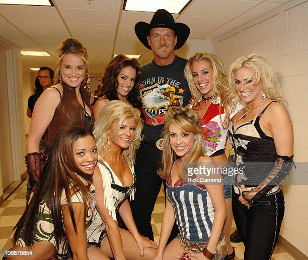 Trace Adkins and dancers during 2006 CMT Music Awards Backstage and Audience at Curb Event Center at Belmont University in Nashville Tennessee United...