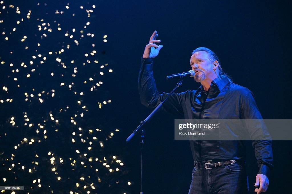 <a gi-track='captionPersonalityLinkClicked' href=/galleries/search?phrase=Trace+Adkins&family=editorial&specificpeople=224686 ng-click='$event.stopPropagation()'>Trace Adkins</a> performs during 'The Christmas Show' Tour. A night of narration, history and soul-stirring Celtic on November 14, 2013 in Nashville, Tennessee.