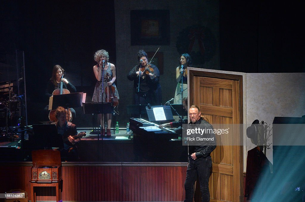 Trace Adkins performs with his lovely 'Sarepta Symphony' during 'The Christmas Show' Tour. A night of narration, history and soul-stirring Celtic on November 14, 2013 in Nashville, Tennessee.