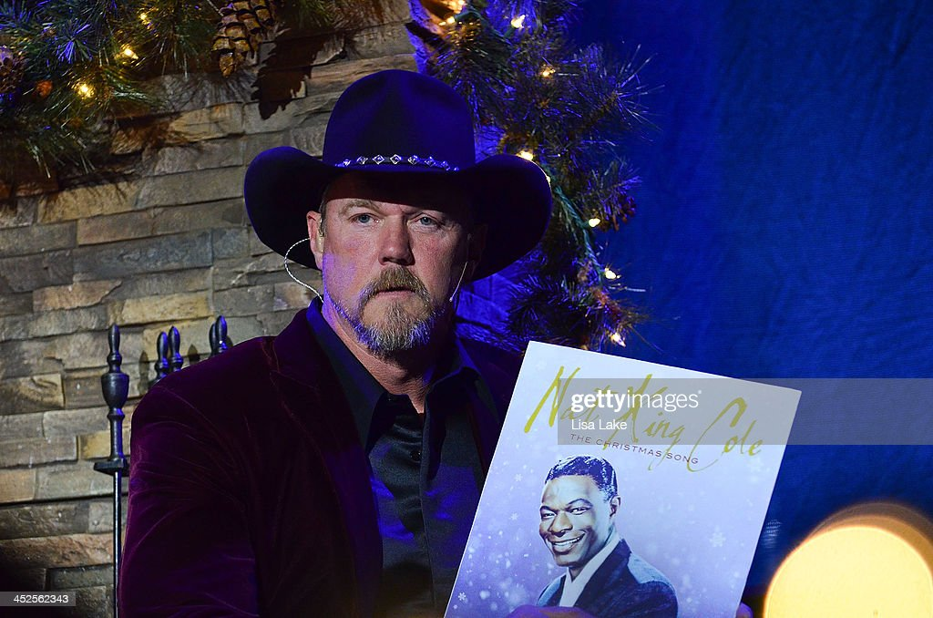 <a gi-track='captionPersonalityLinkClicked' href=/galleries/search?phrase=Trace+Adkins&family=editorial&specificpeople=224686 ng-click='$event.stopPropagation()'>Trace Adkins</a> talks about playing Nat King Cole music during 'The Christmas Show' Tour. A night of narration, history and soul-stirring Celtic at Sands Bethlehem Event Center on November 29, 2013 in Bethlehem, Pennsylvania.