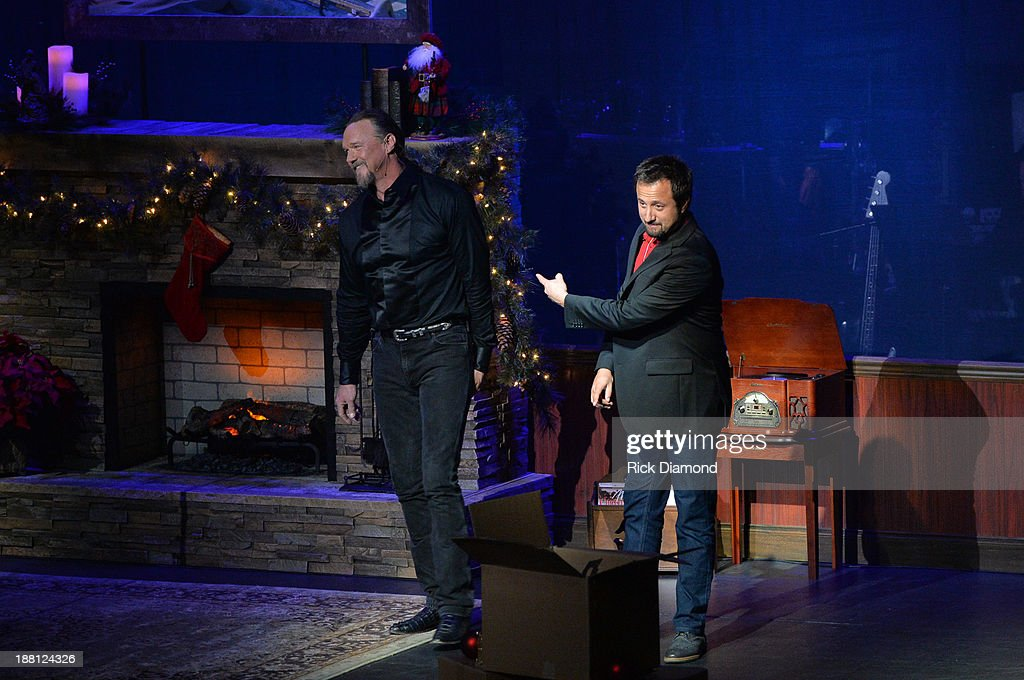 Trace Adkins with Jon Coleman, co-producer of The King's Gift and band leader on The Christmas Show Tour during 'The Christmas Show' Tour. A night of narration, history and soul-stirring Celtic on November 14, 2013 in Nashville, Tennessee.