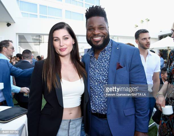Trace Lysette and MalcolmJamal Warner attend the BBC America BAFTA Los Angeles TV Tea Party 2017 at The Beverly Hilton Hotel on September 16 2017 in...