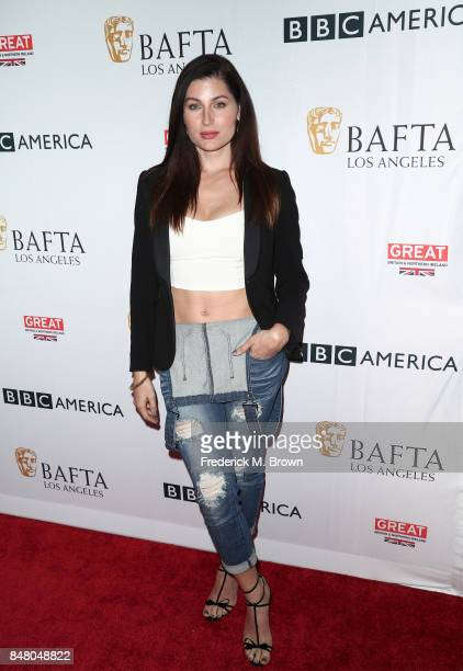 Trace Lysette attends the BBC America BAFTA Los Angeles TV Tea Party 2017 at The Beverly Hilton Hotel on September 16 2017 in Beverly Hills California