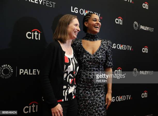 Tracee Ellis Ross and executive producer Corey Nickerson attend 'Blackish' at The Paley Center for Media on October 9 2017 in New York City