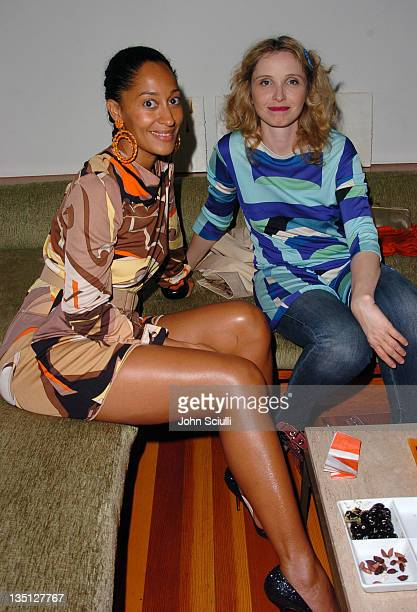 Tracee Ellis Ross and Julie Delpy during Limited Edition Champagne Veuve Clicquot Dressed by Emilio Pucci Party at Private Residence in Los Angeles...