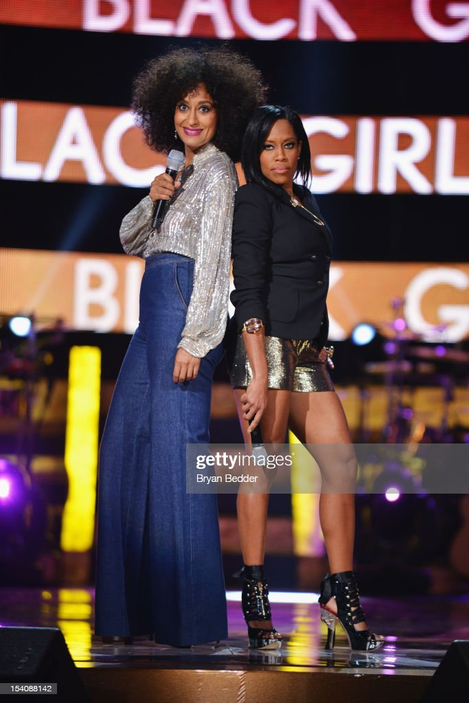 <a gi-track='captionPersonalityLinkClicked' href=/galleries/search?phrase=Tracee+Ellis+Ross&family=editorial&specificpeople=211601 ng-click='$event.stopPropagation()'>Tracee Ellis Ross</a> (L) and <a gi-track='captionPersonalityLinkClicked' href=/galleries/search?phrase=Regina+King&family=editorial&specificpeople=202510 ng-click='$event.stopPropagation()'>Regina King</a> speak onstage at BET's Black Girls Rock 2012 at Paradise Theater on October 13, 2012 in New York City.