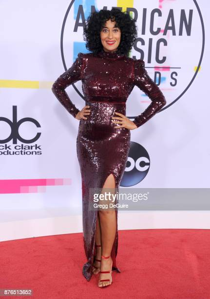 Tracee Ellis Ross arrives at the 2017 American Music Awards at Microsoft Theater on November 19 2017 in Los Angeles California