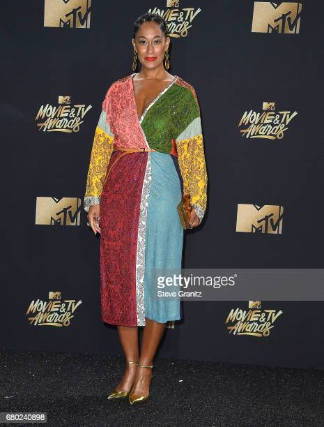 Tracee Ellis Ross arrives at the 2017 MTV Movie And TV Awards at The Shrine Auditorium on May 7 2017 in Los Angeles California