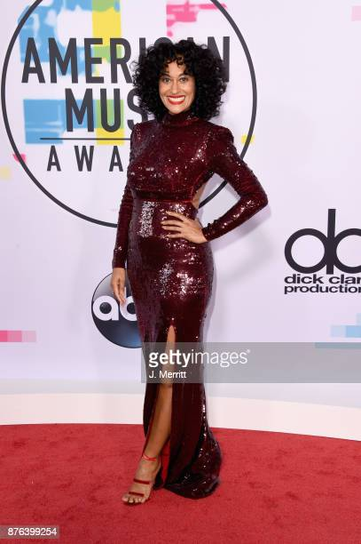 Tracee Ellis Ross attends 2017 American Music Awards at Microsoft Theater on November 19 2017 in Los Angeles California