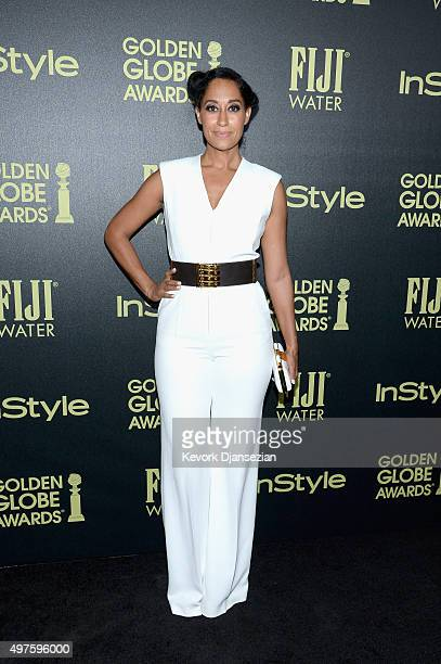 Tracee Ellis Ross attends Hollywood Foreign Press Association and InStyle Celebration of The 2016 Golden Globe Award Season at Ysabel on November 17...