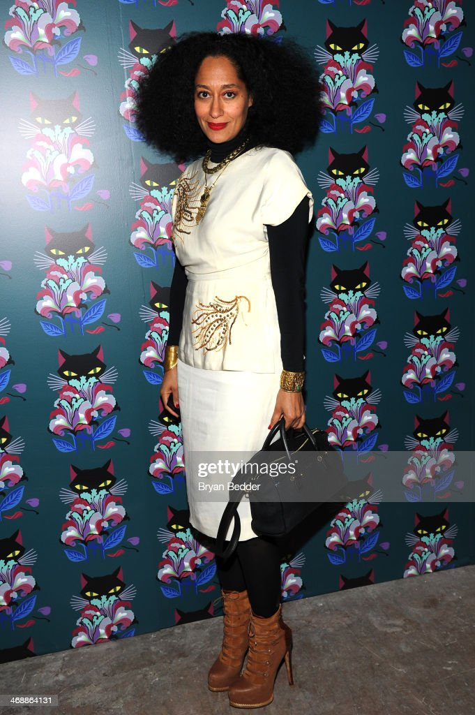 Tracee Ellis Ross attends Miu Miu Women's Tales 7th Edition - 'Spark & Light' Screening - Arrivals at Diamond Horseshoe on February 11, 2014 in New York City.