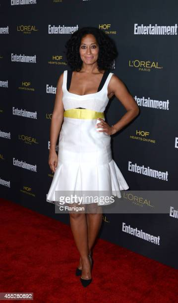 Tracee Ellis Ross attends the 2014 Entertainment Weekly PreEmmy Party at Fig Olive Melrose Place on August 23 2014 in West Hollywood California