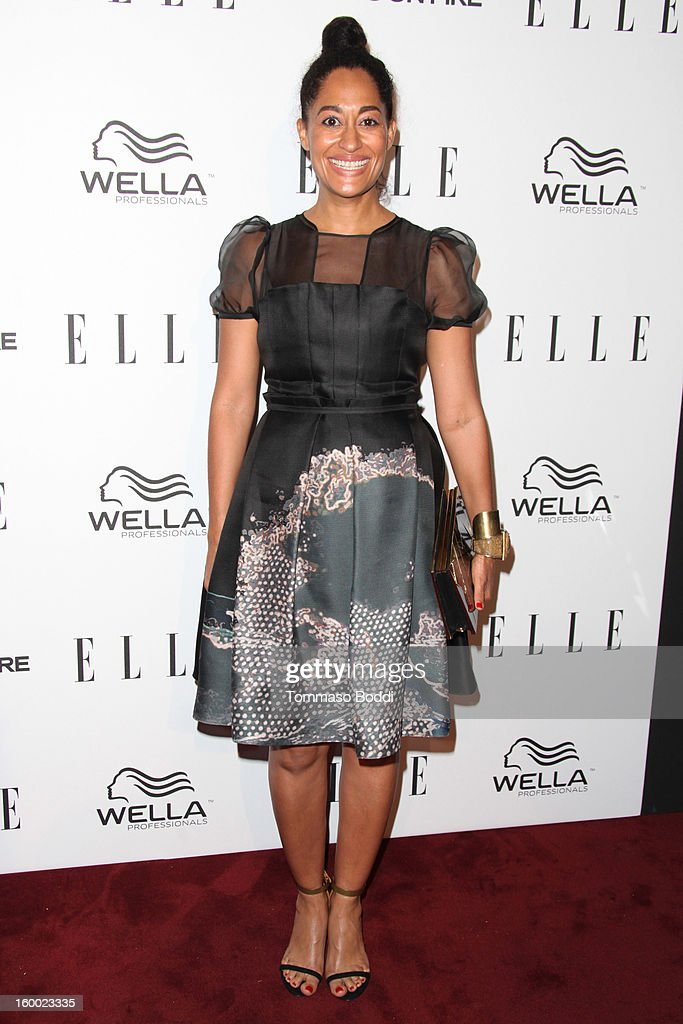 Tracee Ellis Ross attends the ELLE Women in Television Celebration presented by Hearts on Fire Diamonds and Wella Professionals held at Soho House on January 24, 2013 in West Hollywood, California.